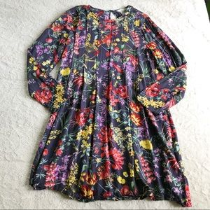 H&M Floral Pleated Shift Dress